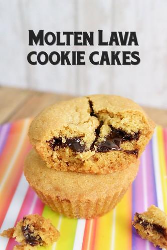 Molten Lava Cookie Cakes