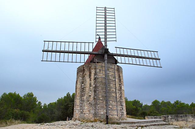 Daudet's windmill, Fontvieille, Provence, France