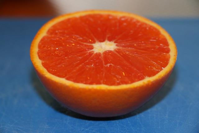 Ruby orange half