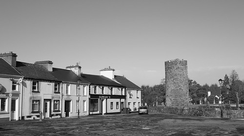 The Round Tower in Balla B&W