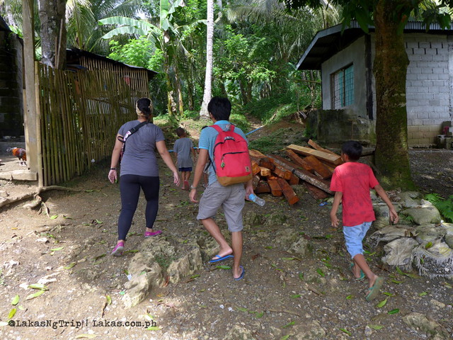 The start of our walk to Pampam Falls and Kalubihon Falls in Iligan City, Philippines