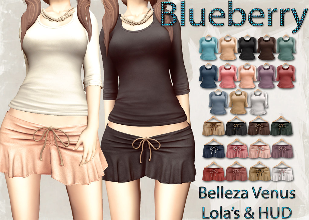 Blueberry Kits Basic Tees & Suede Skirts