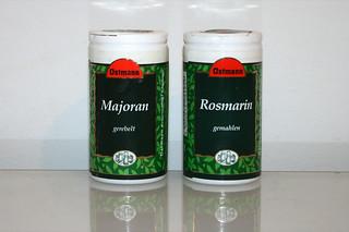 03 - Zutat Majoran & Rosmarin / Ingredient majoram & rosemary