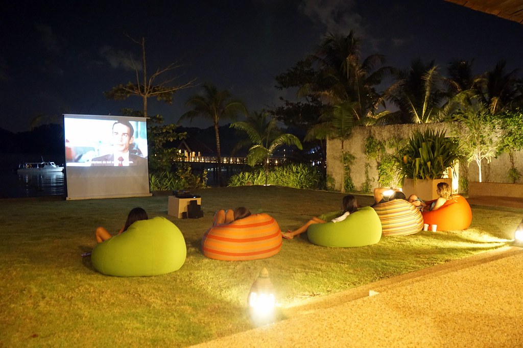 movies under the stars - gaya island resort