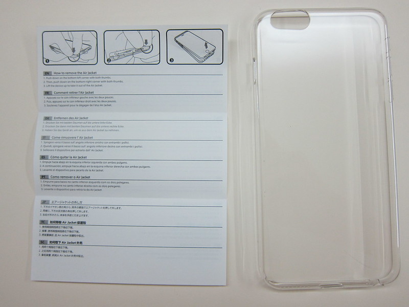Power Support - Air Jacket Force (Clear) for iPhone 6 Plus - Box Contents Back