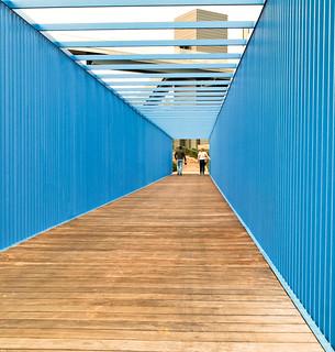 The blue box bridge