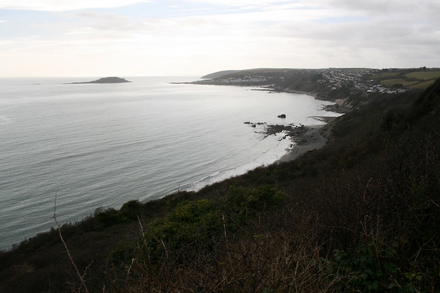 View back to Looe
