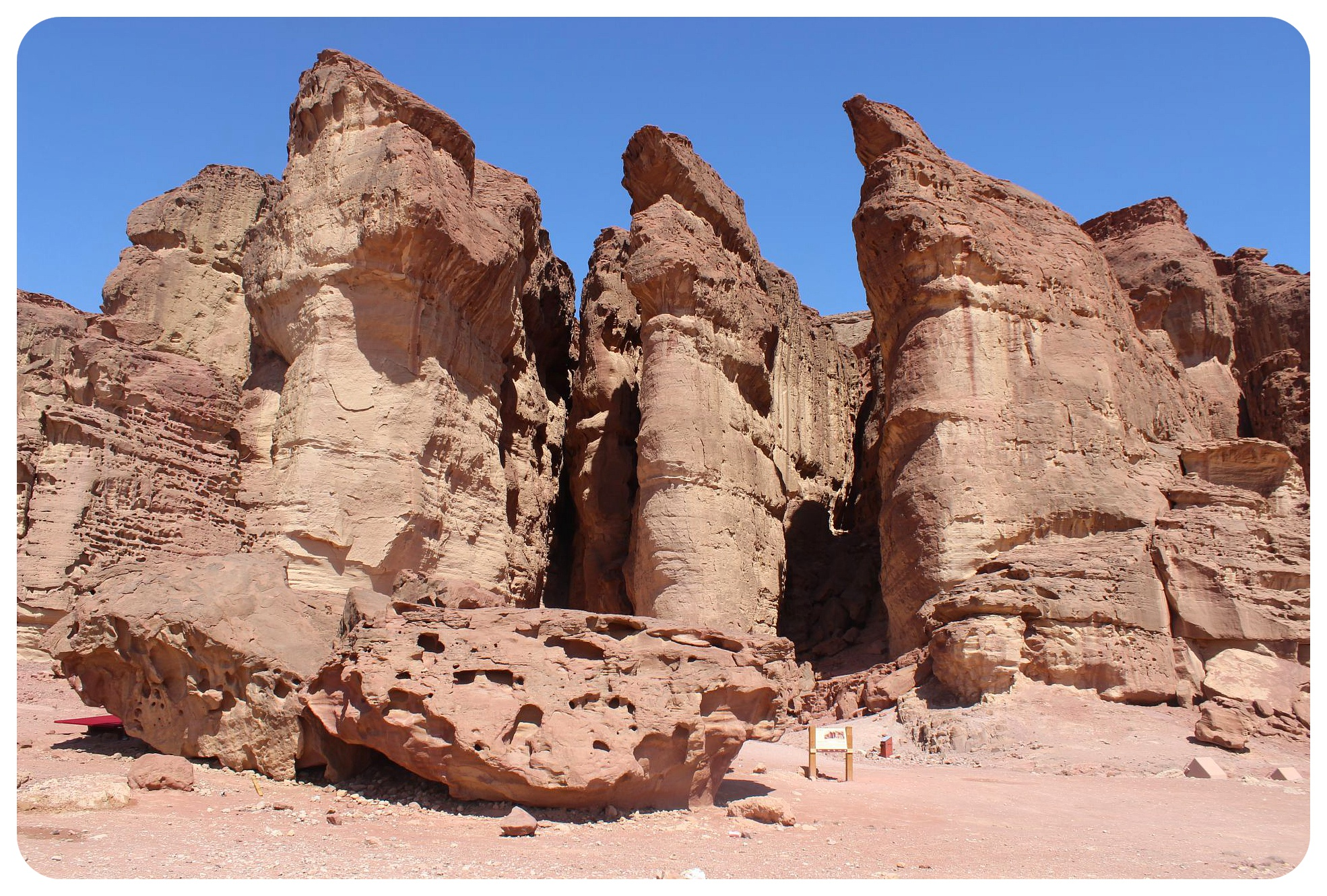 timna park solomons pillars