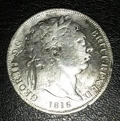 George III Bullhead Shilling - 1816