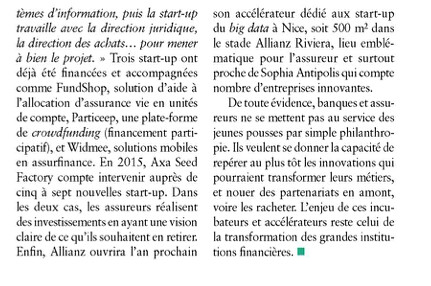 AGEFI: Banques, objectif start-up