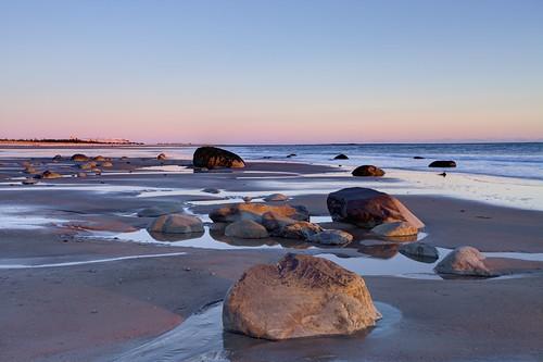 sunset canada beach rocks novascotia ns shoreline ontherocks lowtide atlanticocean hdr lawrencetown 2015 conradsbeach