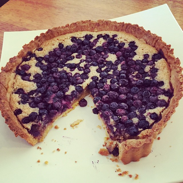 Dessert. Blueberry and frangipane tart. #AustraliaDay #baking #homecooking
