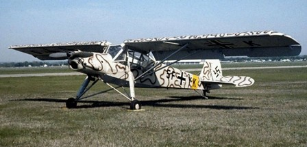 Fieseler Fi-156 como el utilizado por Rommel en África