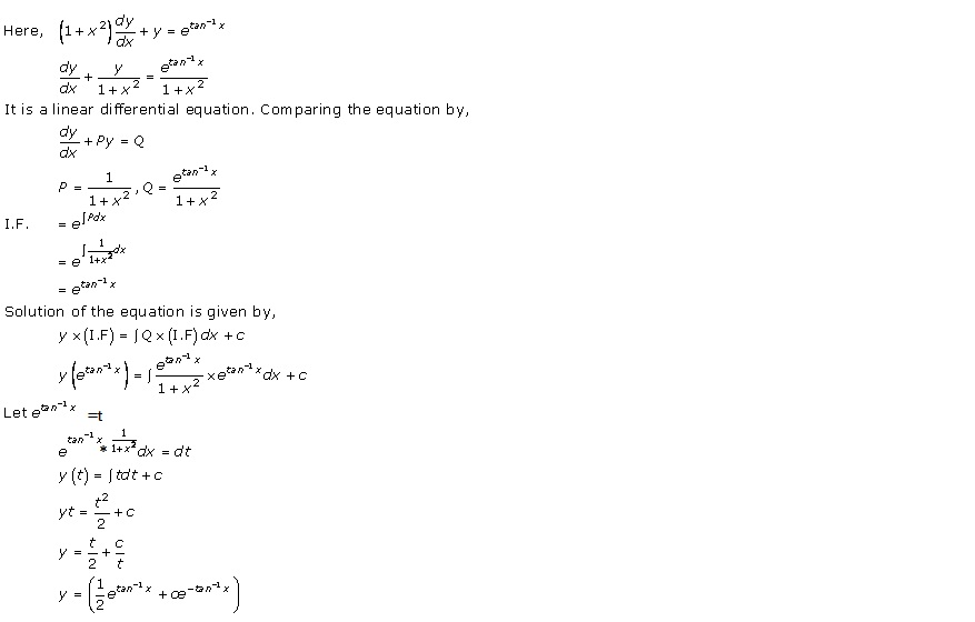RD Sharma Class 12 Solutions Chapter 22 Differential Equations Ex 22.10 Q20