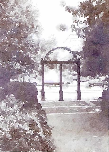 Watercolors #5 - The Arch at UGA