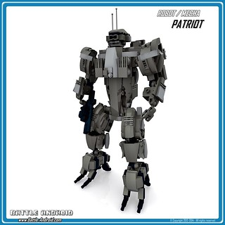 BATTLE ANDROID – Robot PATRIOT (Custom LEGO Robot / Mecha)