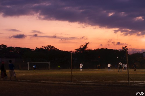 sunset atardecer football campo
