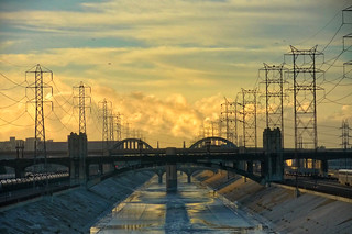 L.A. River And Clouds