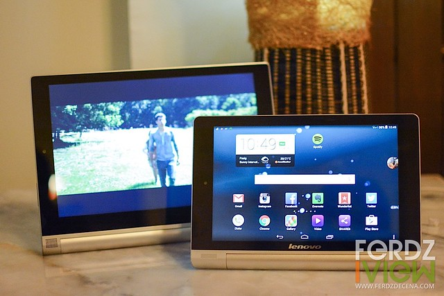 Same design, my Yoga 8 (front) and the Yoga 10 (back)