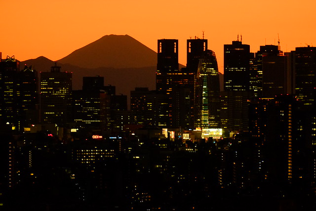 Shinjuku and Mt.Fuji