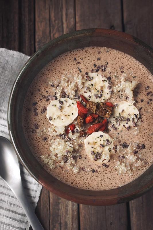 Cacao Hemp Quinoa Breakfast Bowl