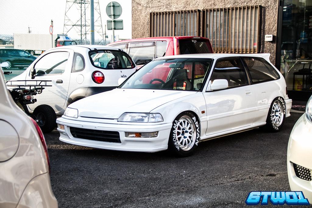 white car squashed bonnet