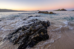 Seal Rocks - rocks and tide at dusk III