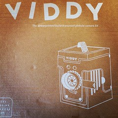 Look what arrived today all the way from Great Britain! A Viddy cardboard pinhole camera kit from @thepopuppinholeco. Can't wait to assemble and try some Lomo 120 film. #Camera #Film #FilmCamera #FilmIsAlive #FilmIsNotDead #Pinhole #PinholeCamera #Cardboa