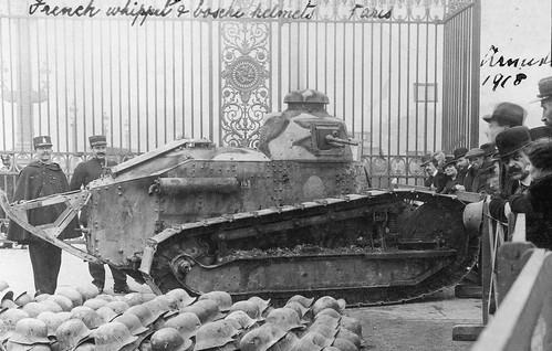 Whippet tank with bullet holes, Jardin des Tuileries, Paris 1918