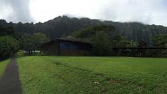 Hoomaluhia Botanical Garden - Pan view