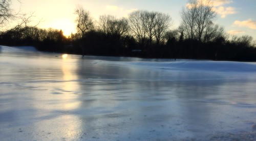 huron hills iced over