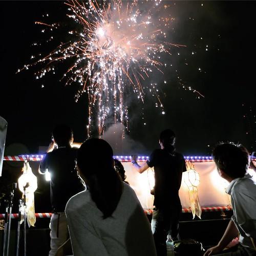 船から見る花火。 #タイ観光アンバサダー #天神祭