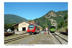 Annot. Train for Nice departing. 25.8.13 - Photo of Vergons