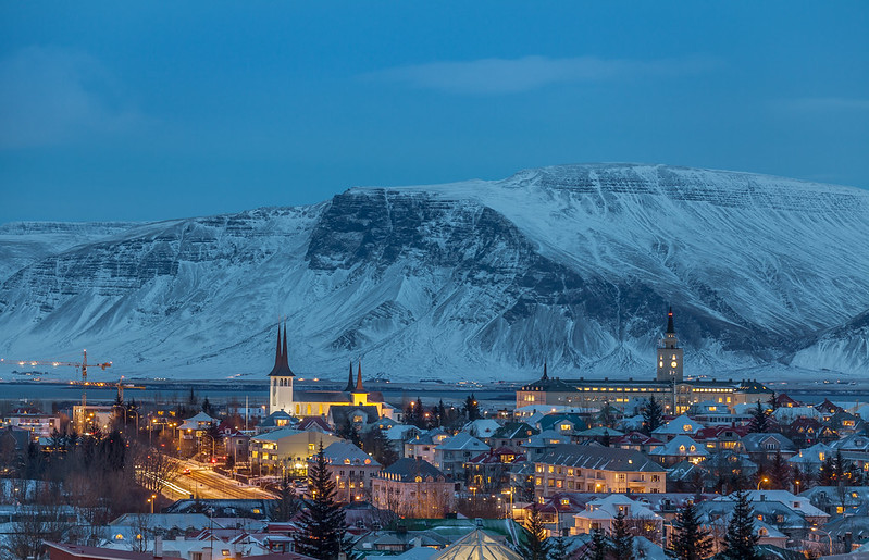 Downtown Reykjavik - Blue Hour