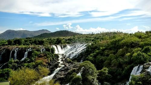waterfall falls sunny water kaveri cauvery river