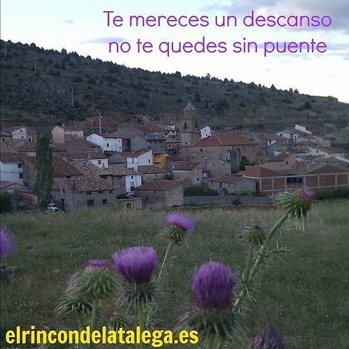Te mereces un descanso.... Una opción en la #SierraDeAlbarracín
