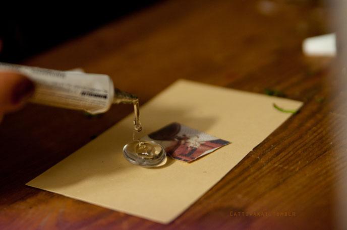Cat medaillon chain diy for Cabochon selber machen