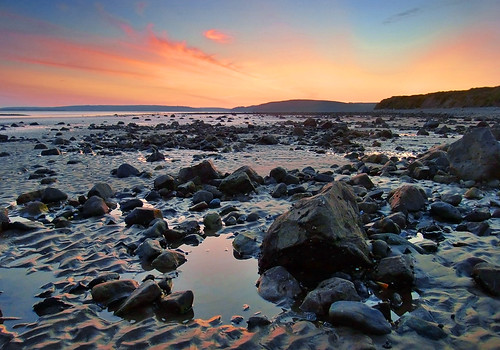 summer rock wales twilight rocks tide july estuary headland 2011 gwendraethestuary wharleypoint