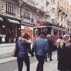 And back to #Istanbul. #taksim #tram