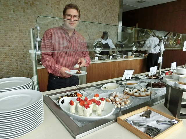 Scott at the Vast Dessert Buffet