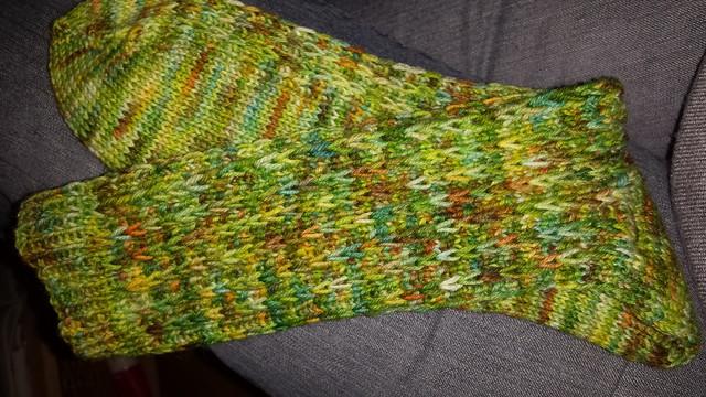 Hebemaschen Socken aufgeblitzt