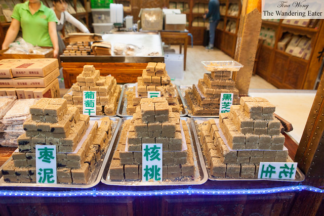 Xi'an green bean pastry made of flakes of the bean