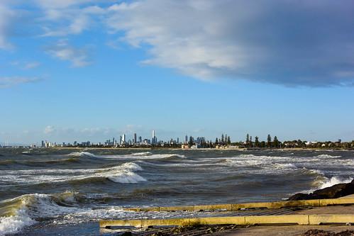 sunset clouds windy australia melbourne victoria brightonbeach