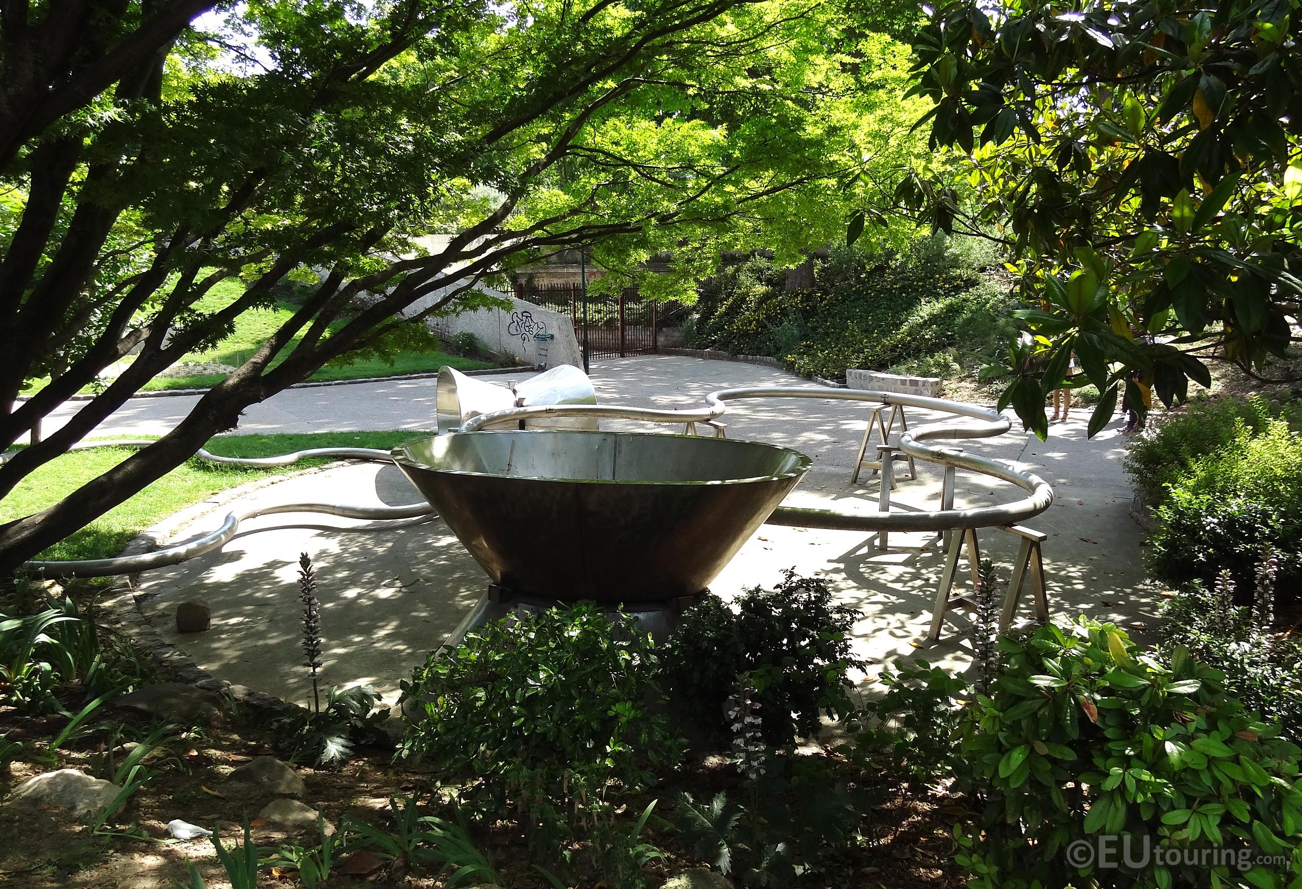 Hidden sculptures within Tino Rossi Gardens