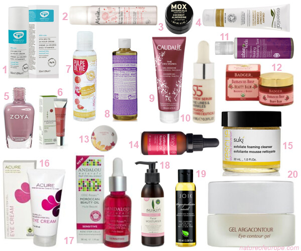 Organic Beauty Holiday products Under 20