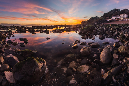 sunset reflection clouds ventnor isleofwight steephill steephillcove chadpowell isleofwightmilkyway