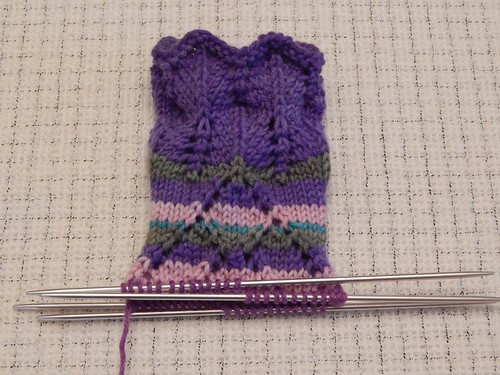 Friday Harbor socks in progress