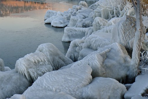 sunset lake canada reflection ice water rocks britishcolumbia okanagan h2o panasonic icy penticton solid okanaganlake lx5 nigeldawson dmclx5 jasbond007 copyrightnigeldawson2014