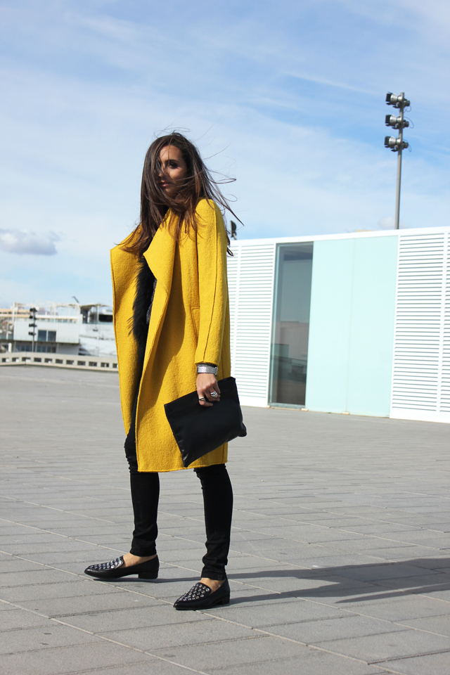yellow coat fashion shoes coohuco 2
