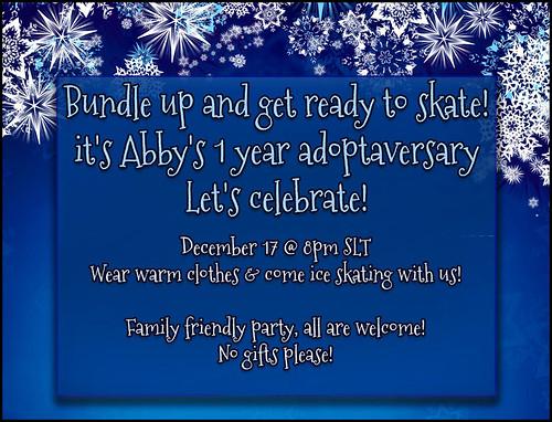 Adoptaversary Ice Skating Party!!